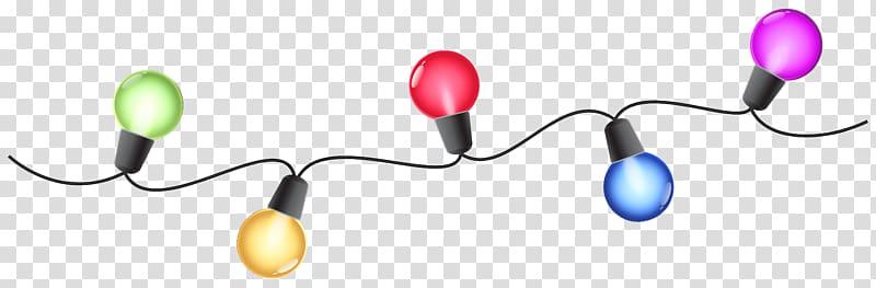 Multicolored string light illustration, Christmas lights , Christmas.