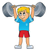 Strong Kid Clipart.