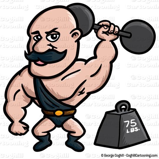 Strong Man Clipart Antique Simplistic 0.