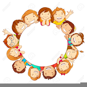 Students Sitting In A Circle Clipart.