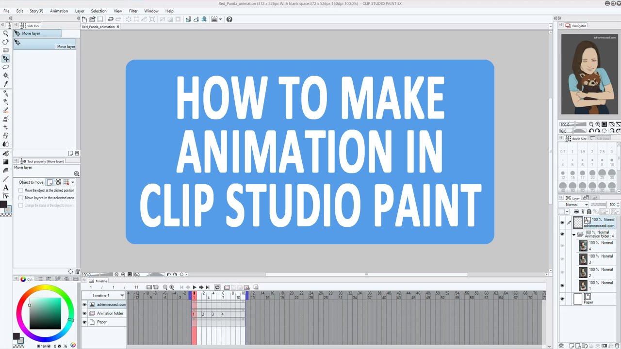 How To Make Simple Animation in Clip Studio Paint EX (Manga Studio 5).