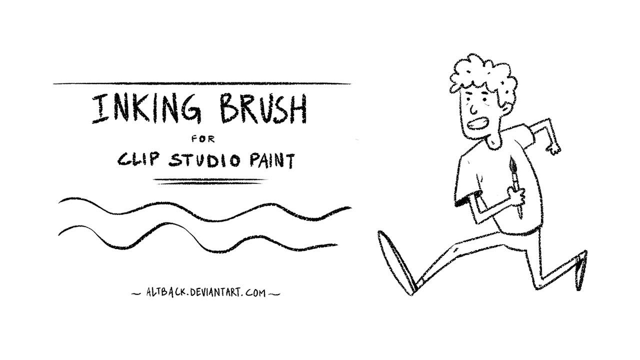 Inking Brush for Clip Studio Paint (textured).