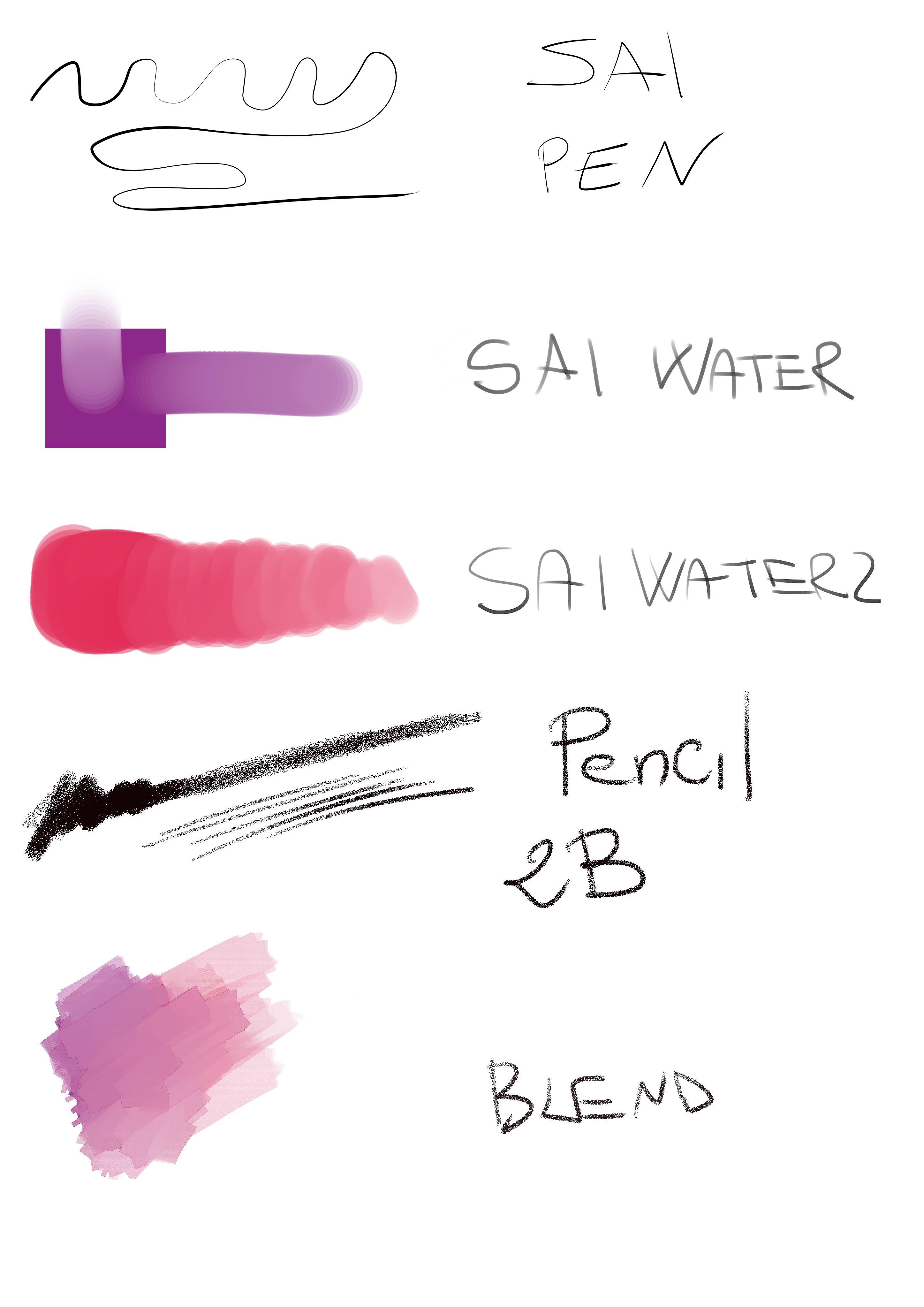 Clip Studio Paint Brushes like Paint Tool SAI.