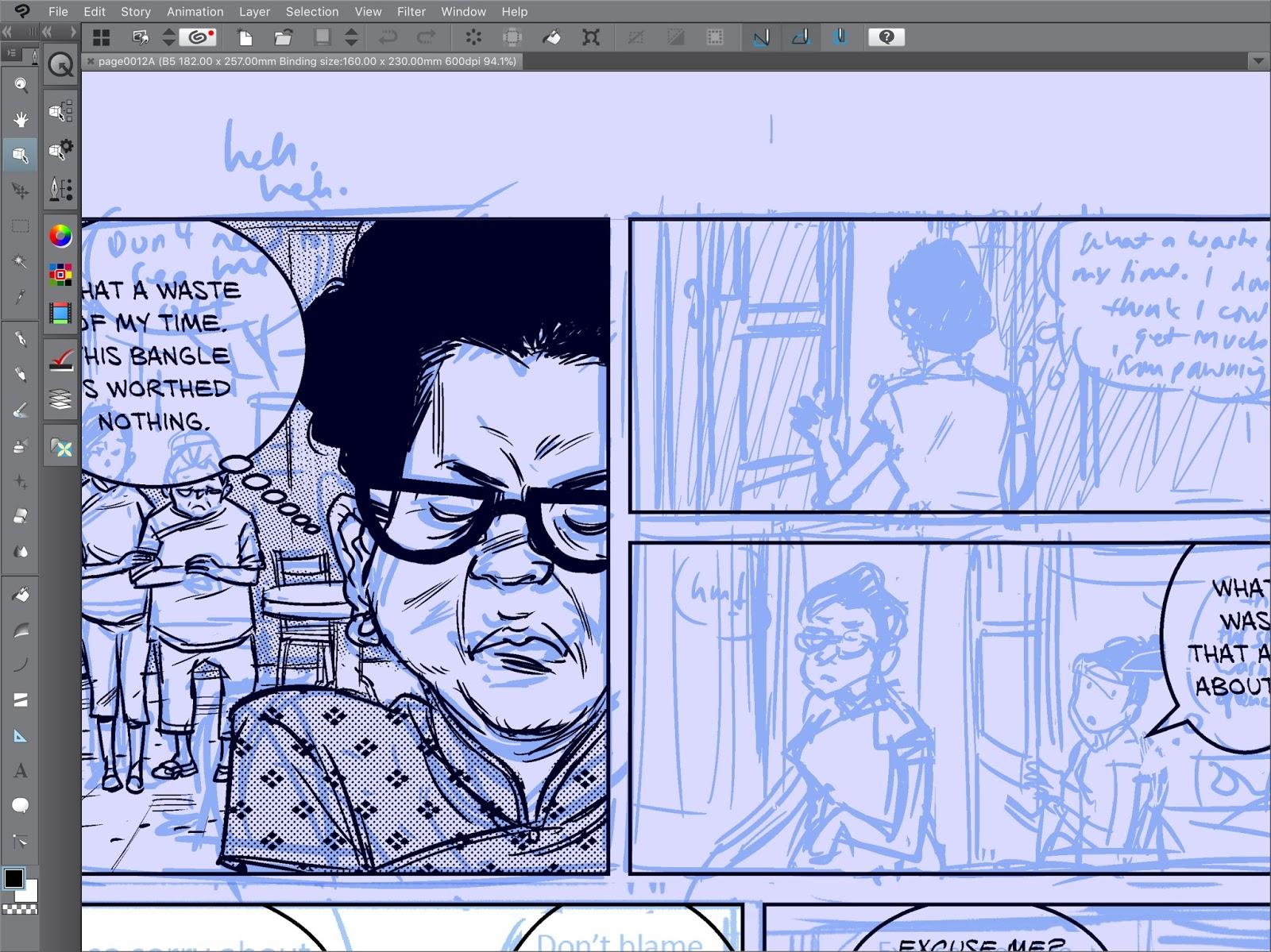 Clipstudio Paint Pro/Ex on iPad Pro, Comics Fonts, Fonts Conversion.