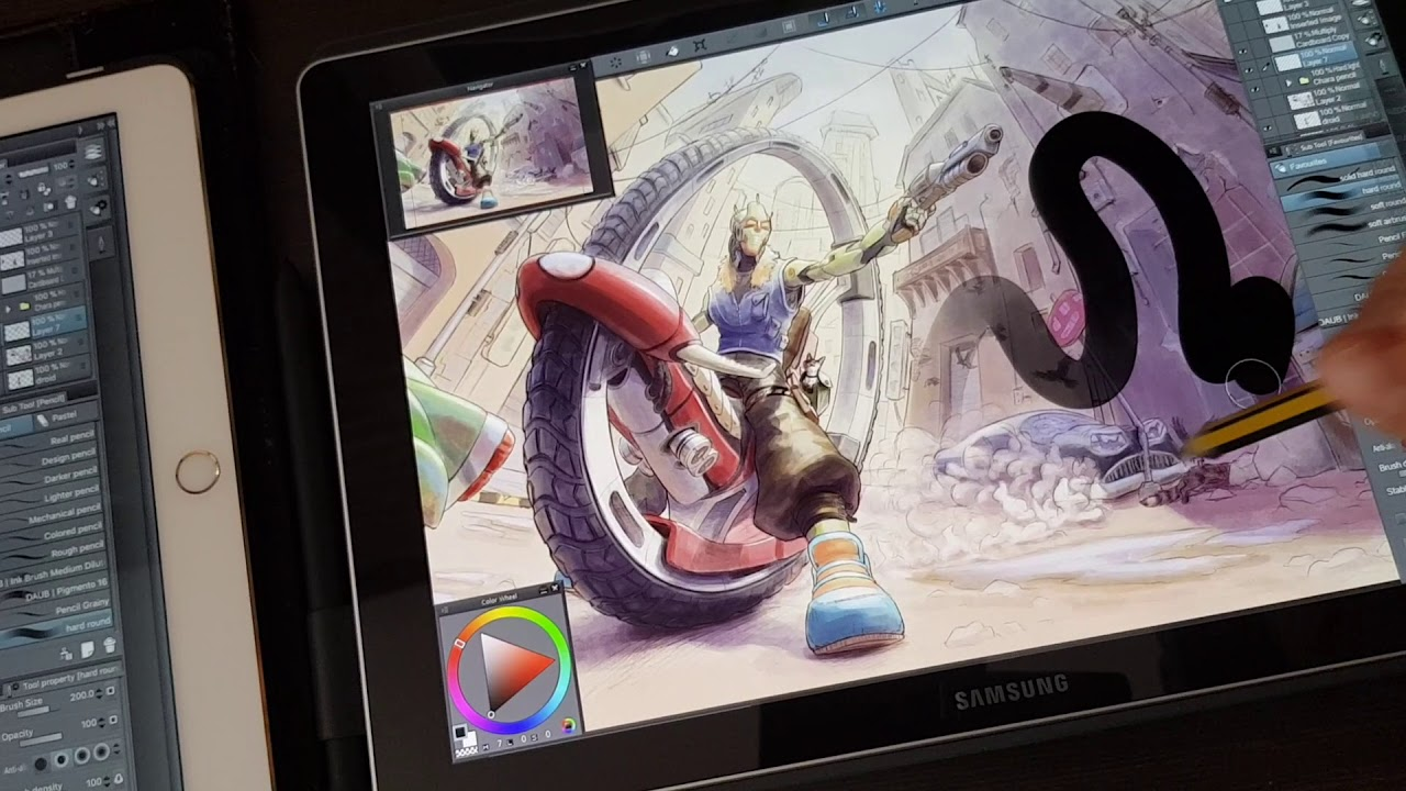 Clip Studio Paint: iPad Pro 12.9 1gen vs Galaxy Book 12.