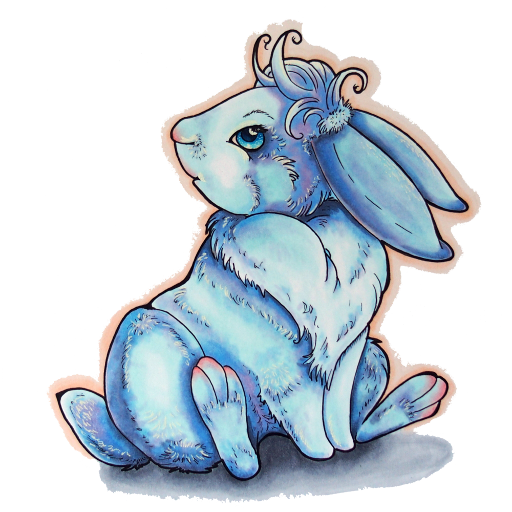 Blue Fever Rabbit.