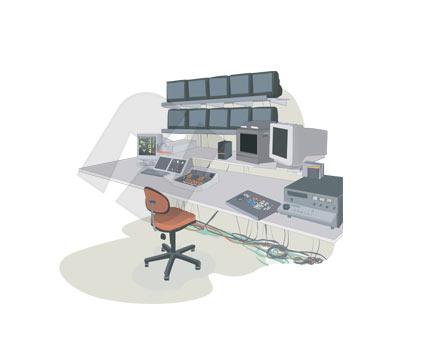 Video Edition Studio Vector Clip Art.