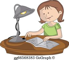 Student Studying Clip Art.