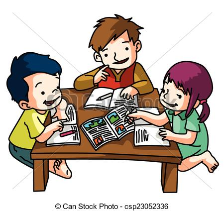 Studying Together Clipart.