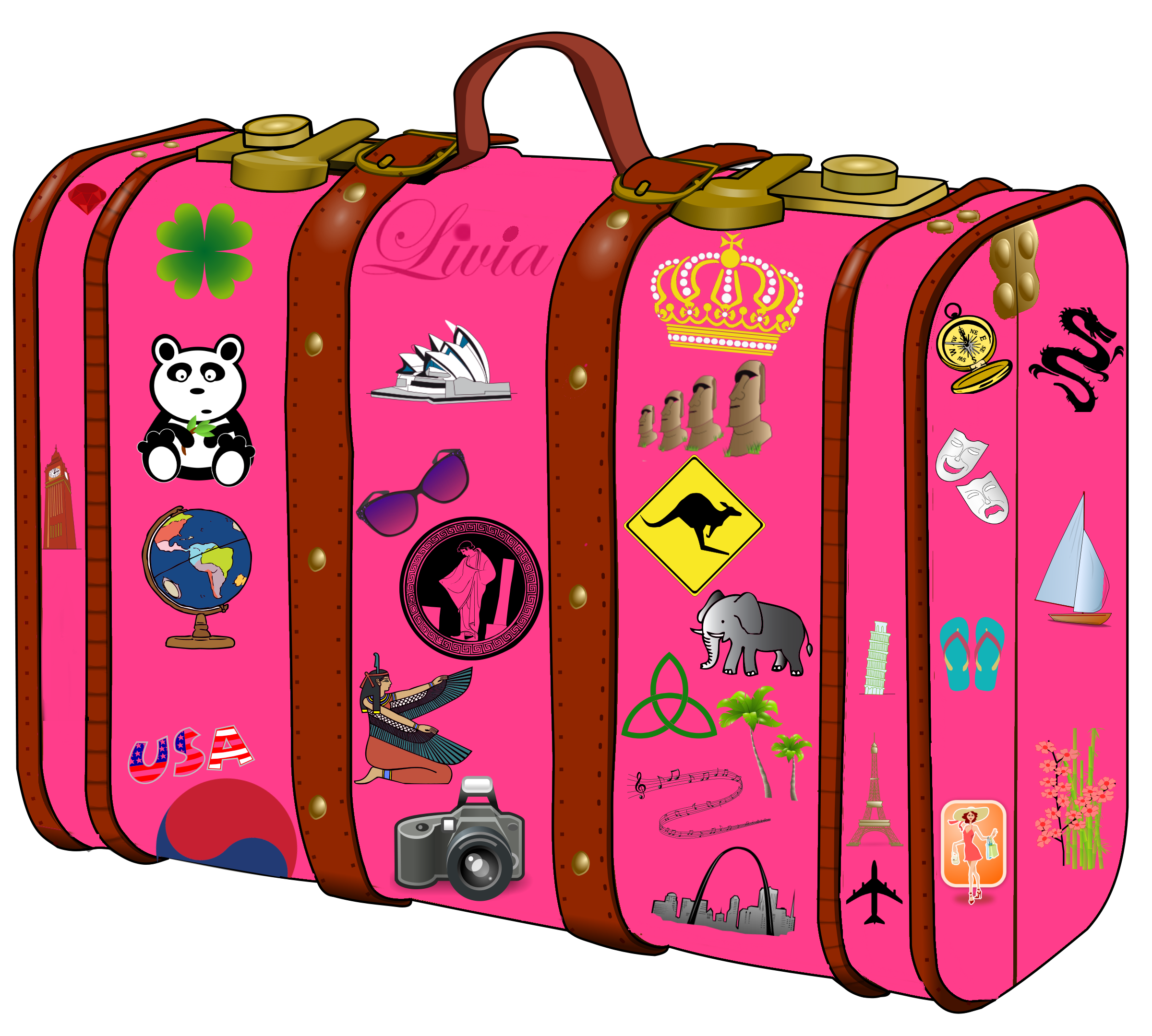 Collection of Suitcase clipart.