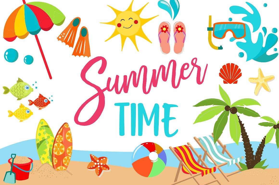 Summer Clipart Bundle.