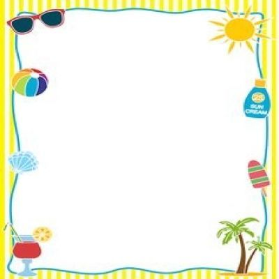 Summer Page Border Clipart.