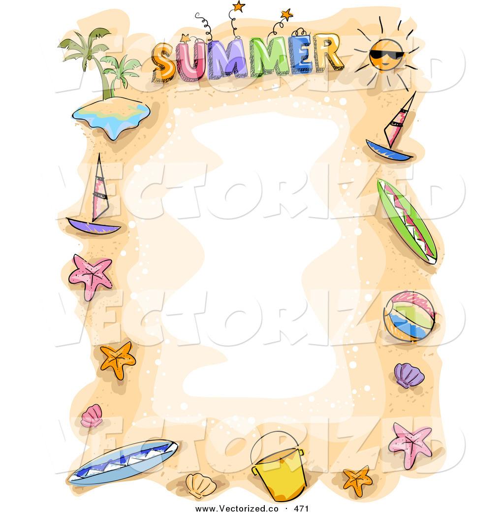 67+ Summer Border Clip Art.