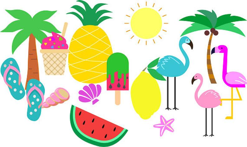 Summer Clip art Tropical Clip art Beach Clipart Summer Fun.