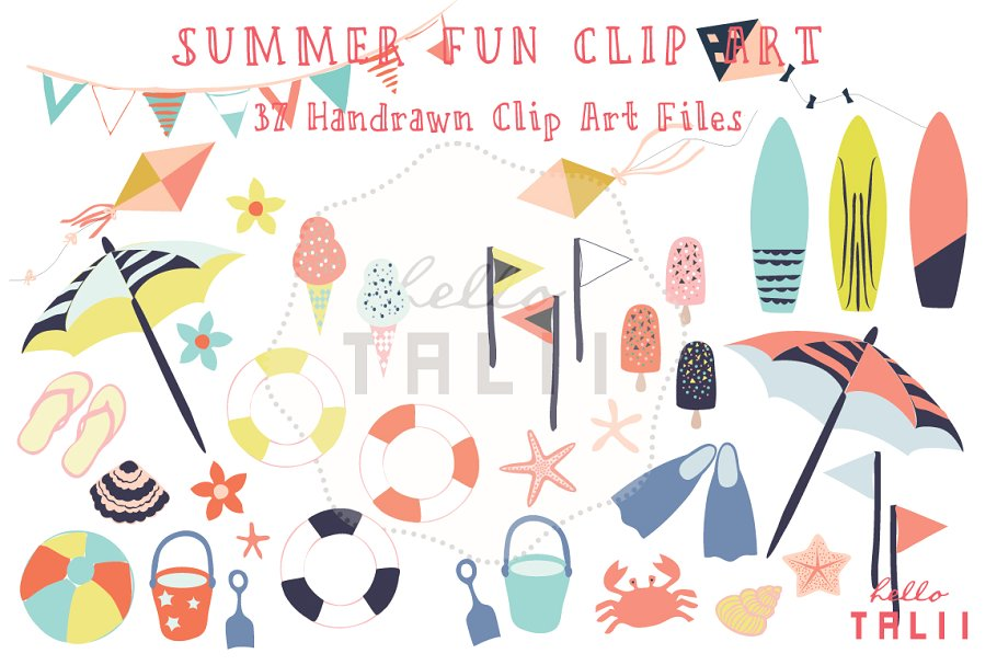 Summer Fun (Clip Art).