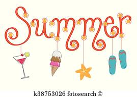 Summer Fun Clipart Vectors.