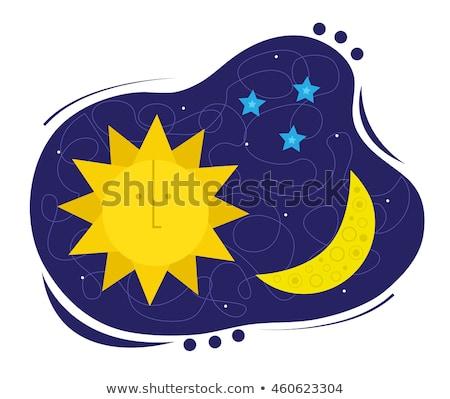 Sun Moon Sun Moon Stars Clipart Stock Vect #424758.