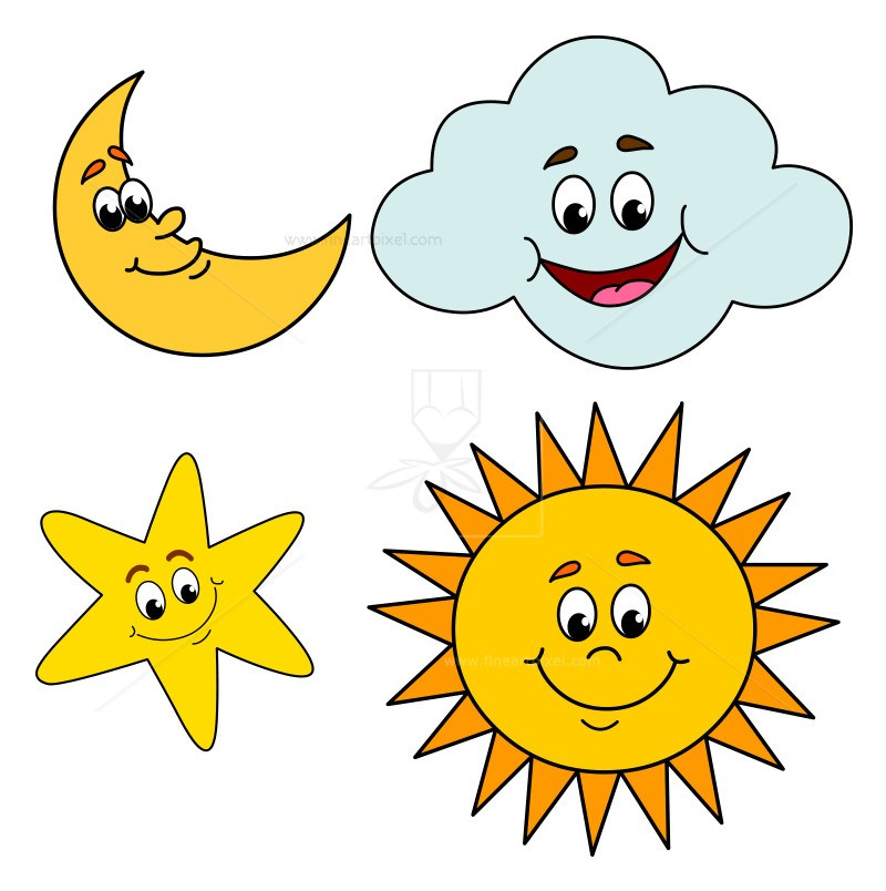 Sun moon and stars clipart 9 » Clipart Portal.
