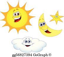 Sun Moon Clip Art.
