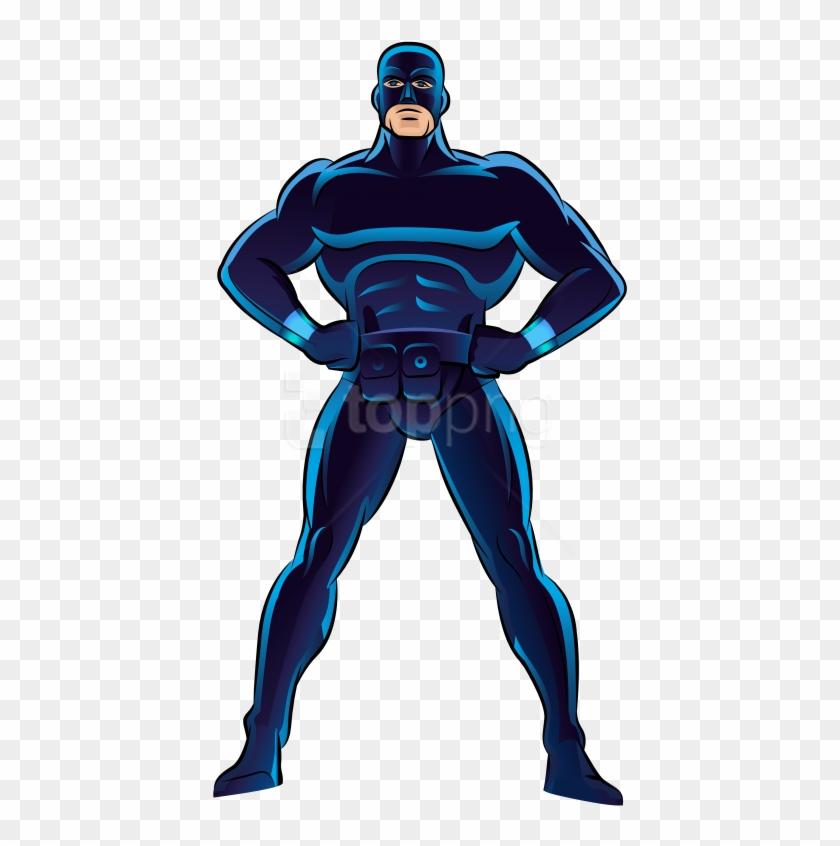 Download Blue Superhero Clipart Png Photo.