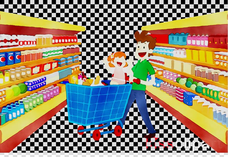 Supermarket Cartoon clipart.