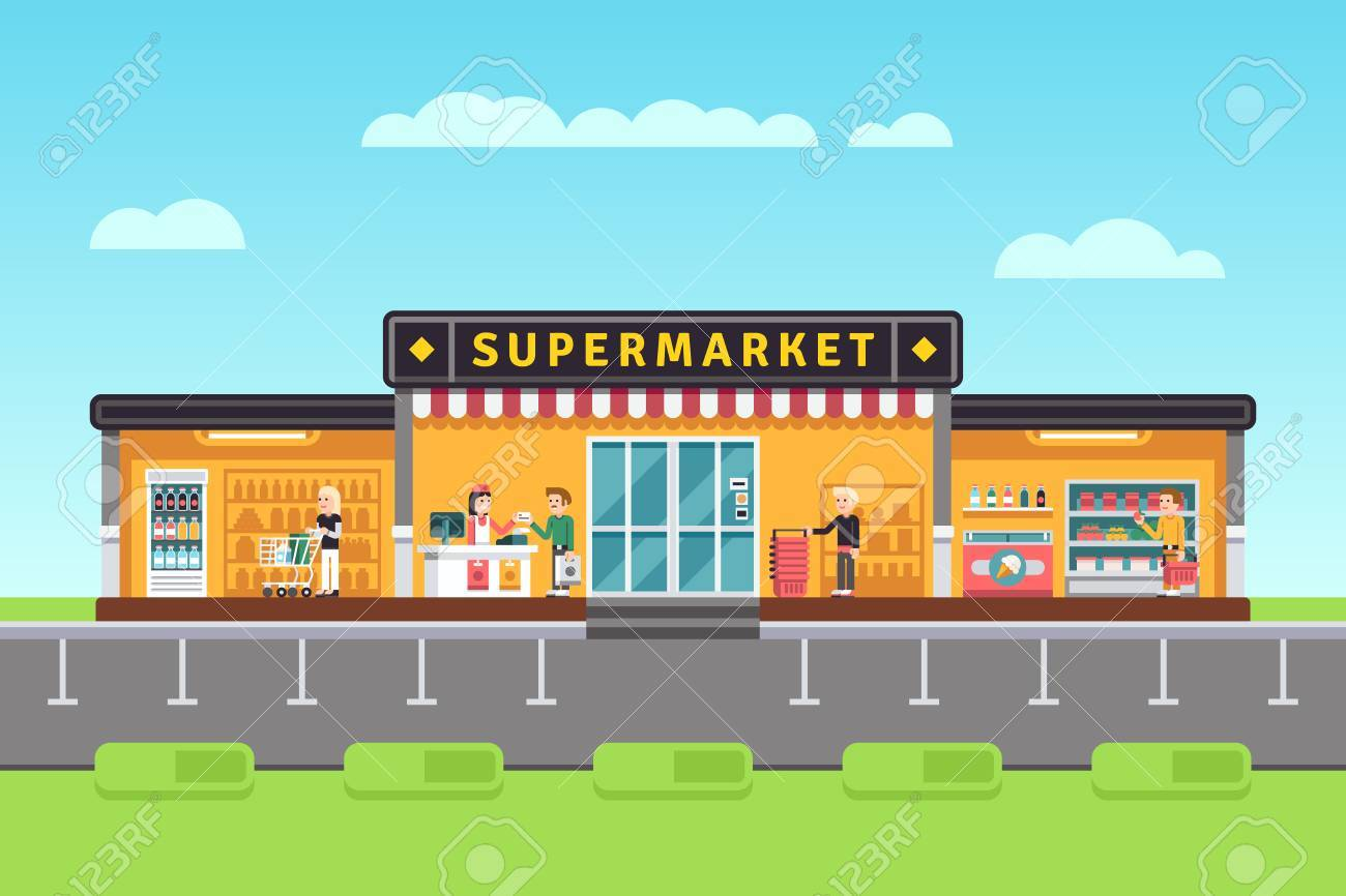 Collection of 14 free Storefront clipart hypermarket sales clipart.