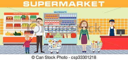 Clipart supermarket 1 » Clipart Station.