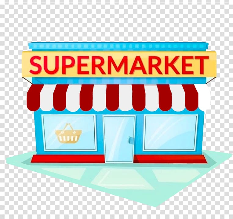 Supermarket store illustration, Grocery store Facade Supermarket.