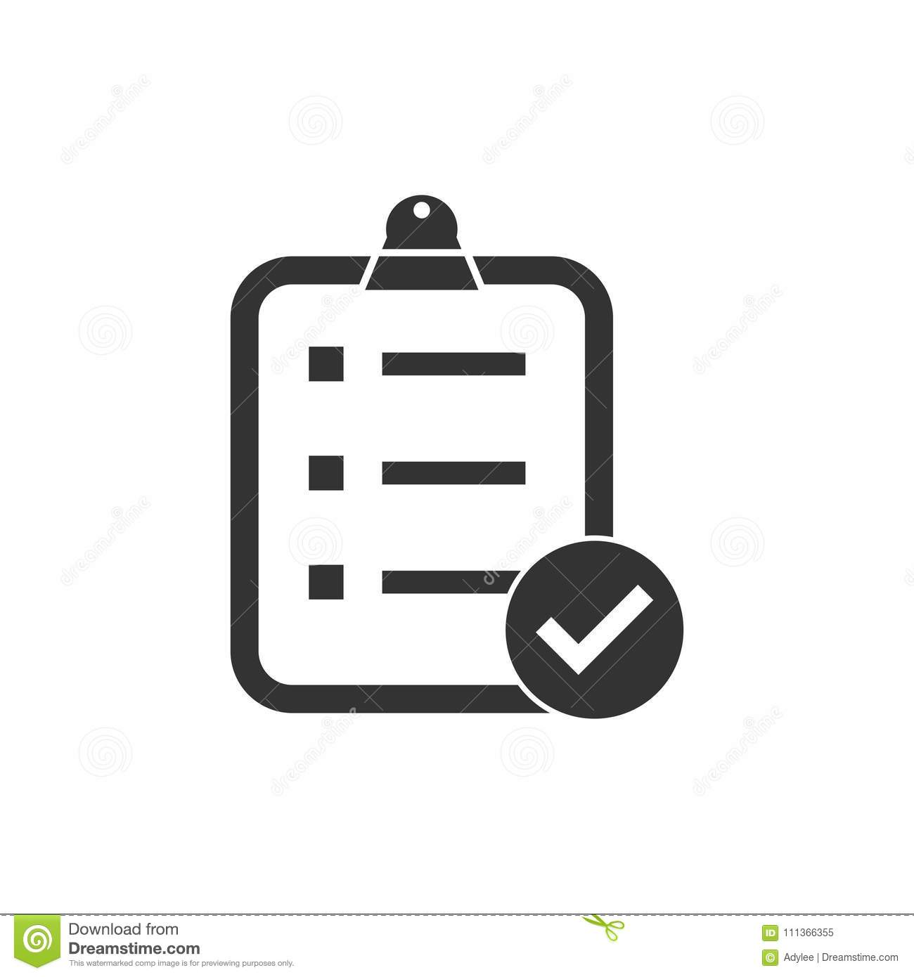 Survey icon stock image. Illustration of examination.