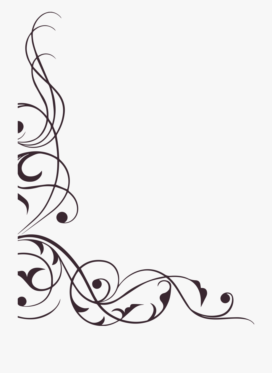 Floral Clipart Swirl.