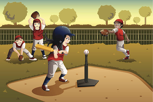 Best Tee Ball Illustrations, Royalty.
