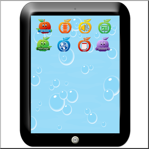 Clip Art: Tablet Color I abcteach.com.