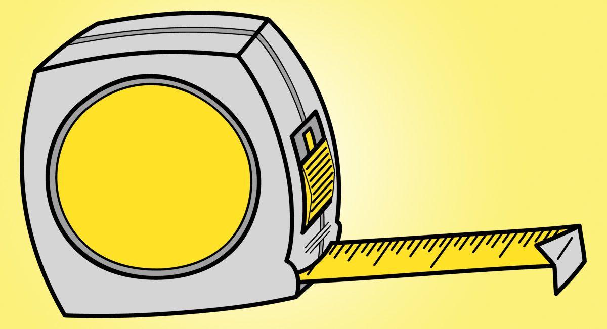 Clip Art: Tools: Tape Measure.
