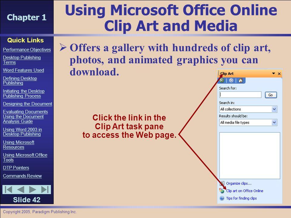 Chapter 1 Quick Links Slide 1 Performance Objectives Desktop.