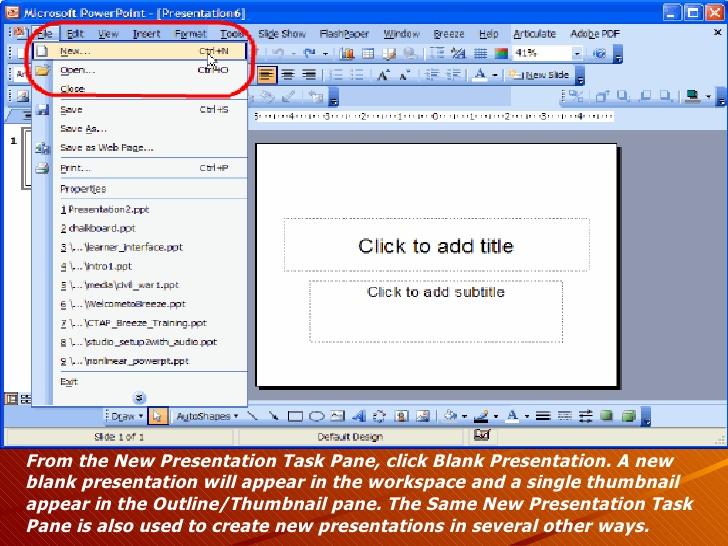Microsoft Powerpoint 2003.