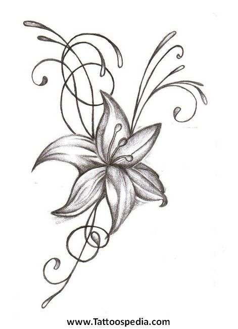 Image result for free flower with banner tattoo clipart.