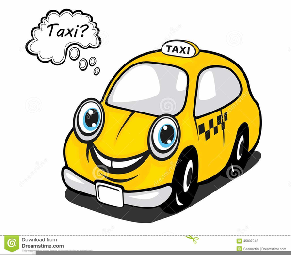 Animated Taxi Clipart.