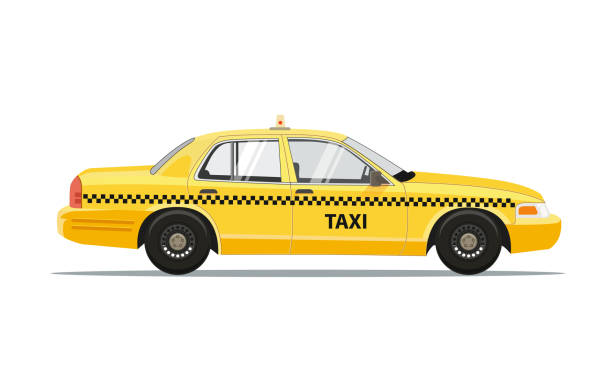 Best Taxi Illustrations, Royalty.