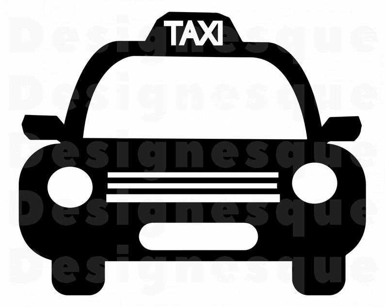 Taxi #3 SVG, Taxi Svg, Taxi Car SVG, Taxi Clipart, Taxi Files for Cricut,  Taxi Cut Files For Silhouette, Taxi Dxf, Taxi Png, Taxi Eps, Svg.