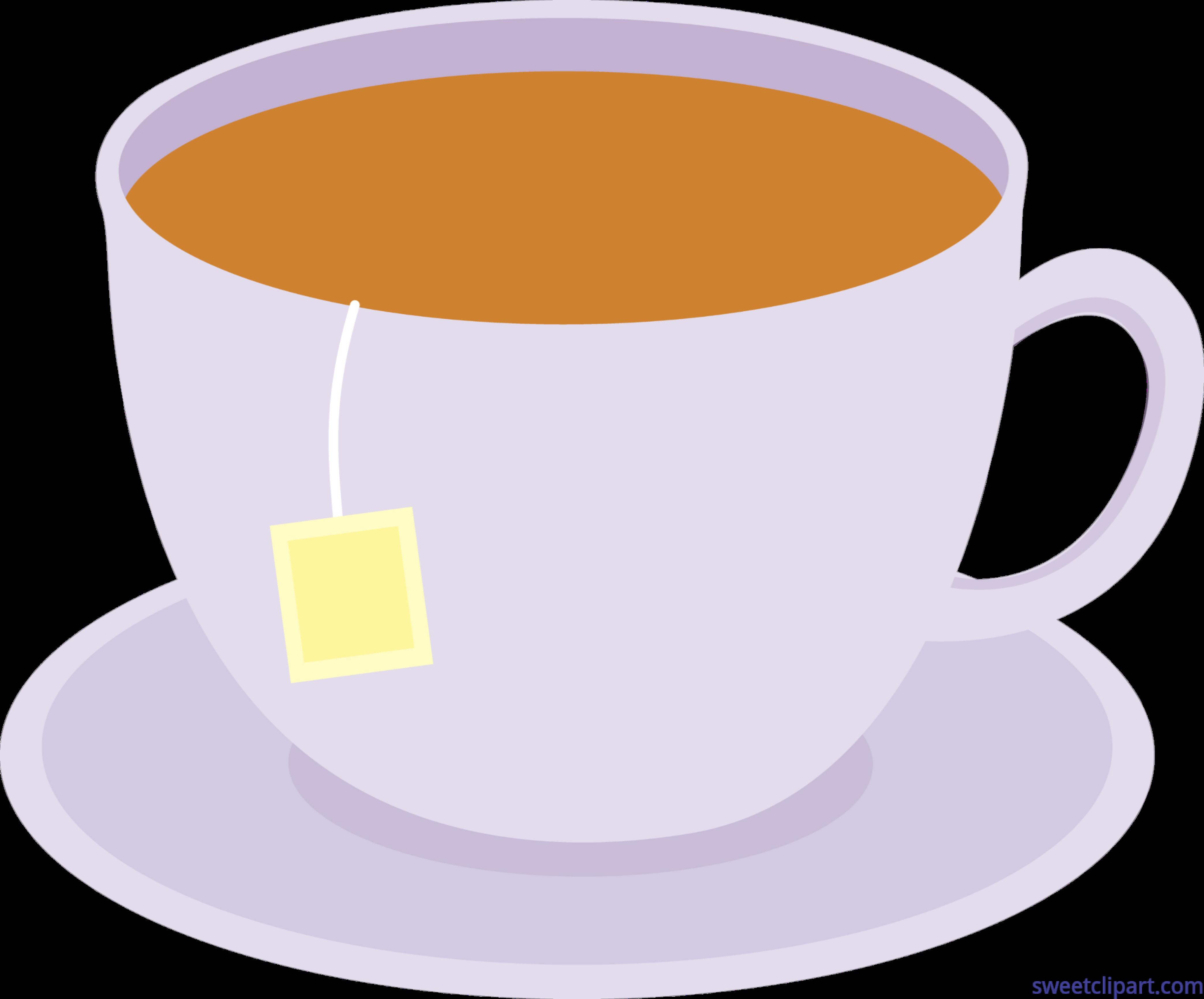Cup Of Tea On Dish 1 Clip Art.