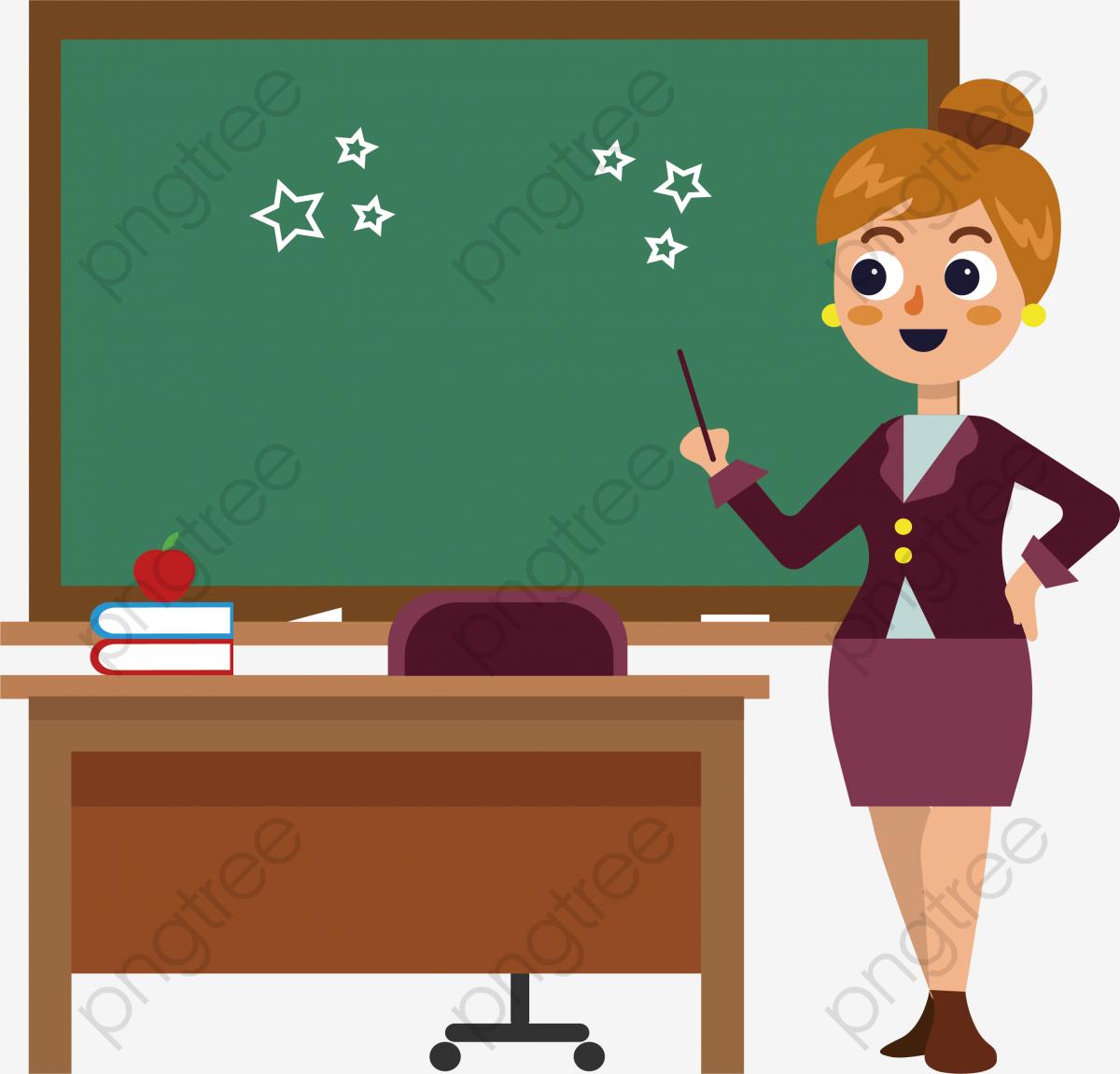 A Classroom Teacher, Classroom Clipart, Teacher Clipart, Vector Png.