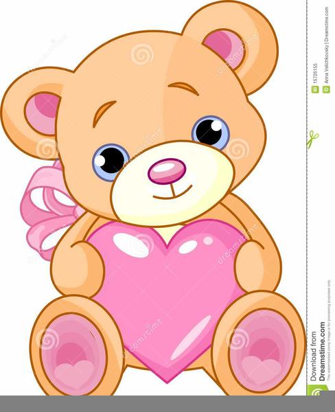 Clipart Teddy Bear With Heart.