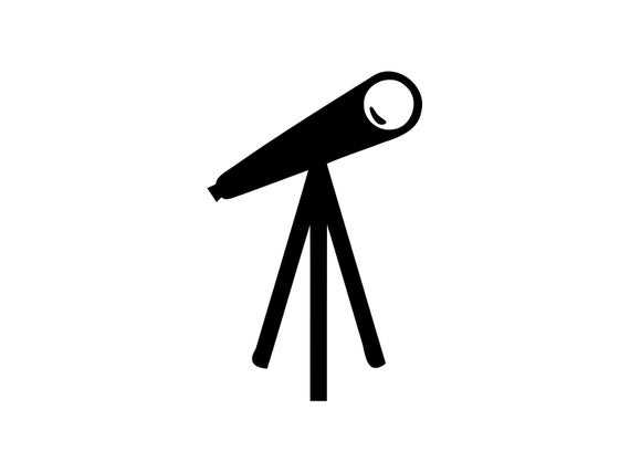 Telescope Svg Astronomy Science Clipart Vector Dxf Cut File Png Clip Art  Image.