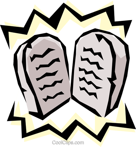 Ten Commandments Royalty Free Vector Clip Art illustration.