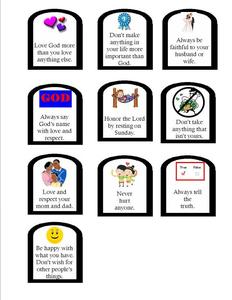 Ten Commandments Train Clipart.