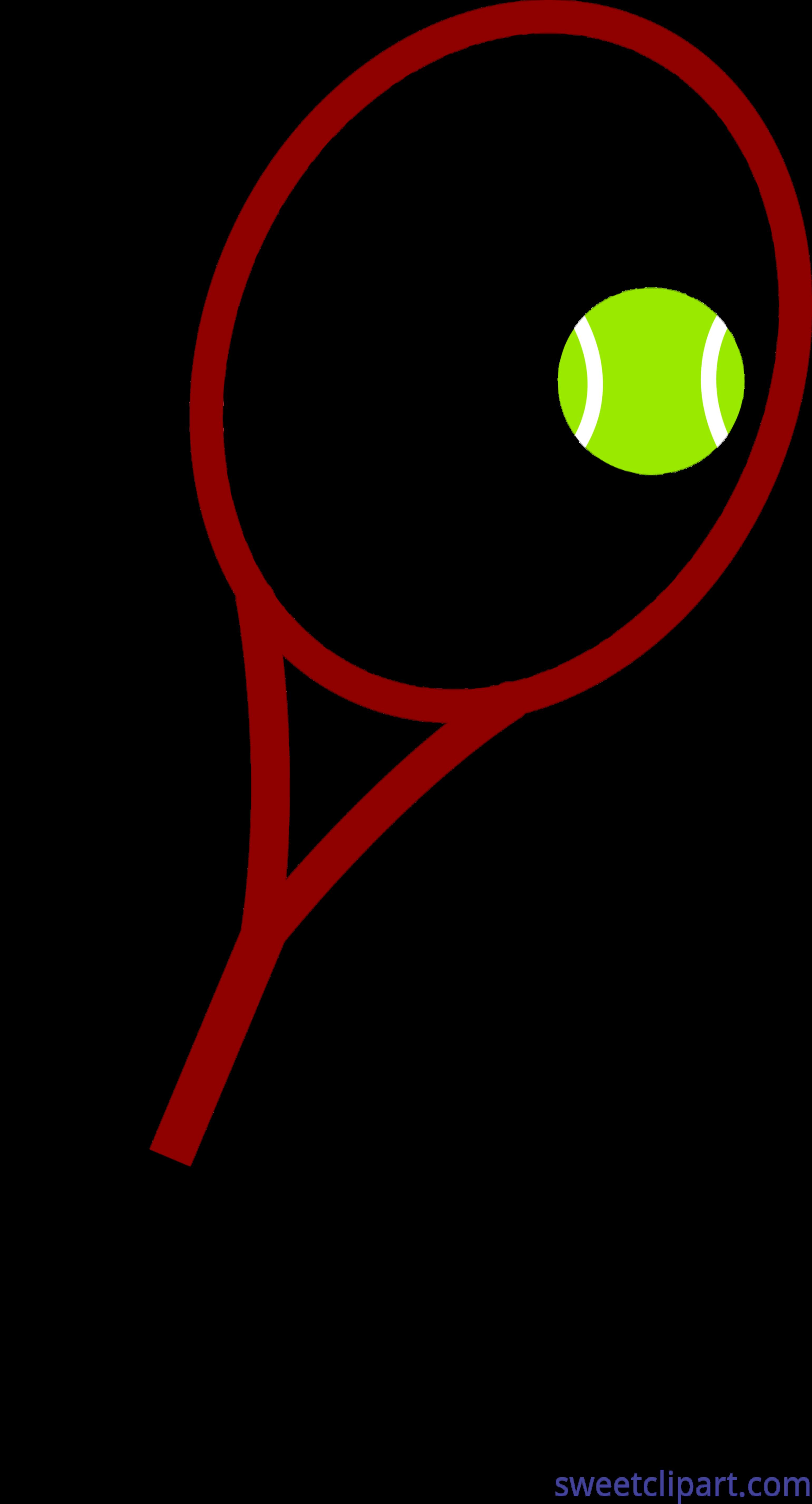 Tennis Ball And Racket Clip Art.