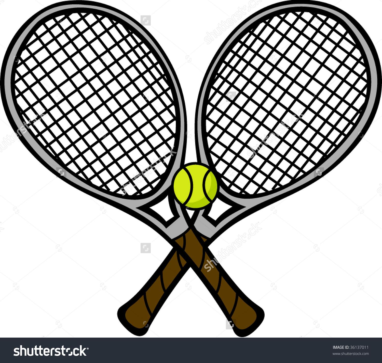 Crossed Tennis Rackets.