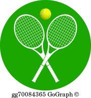 Tennis Rackets And Ball Clip Art.