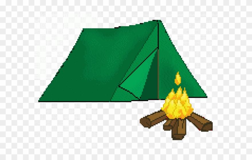 Tent Clipart Campfire.