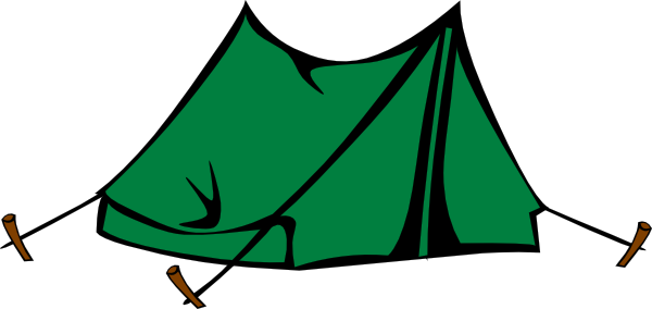 green tent clip art vector.
